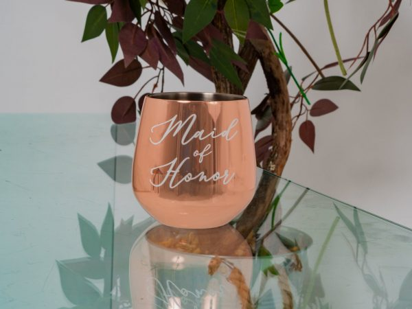 personalised rose gold glass