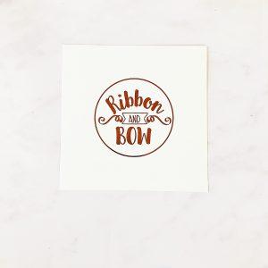 Plain Ribbon & Bow Card
