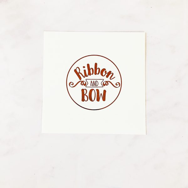 Plain Ribbon & Bow Card