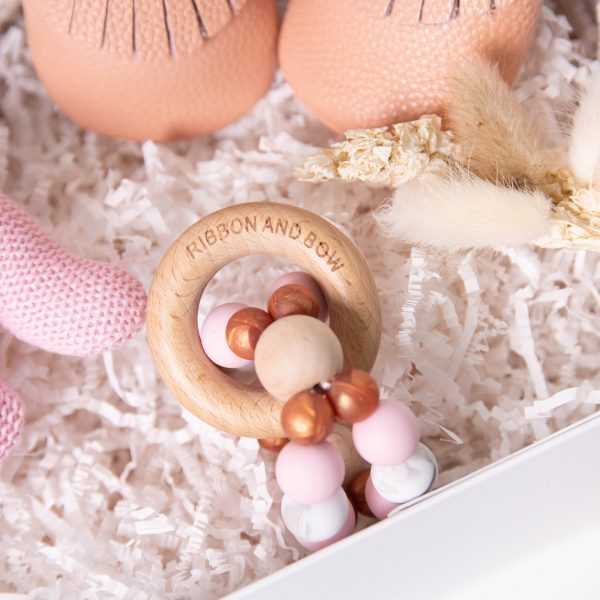 Baby girl teething ring