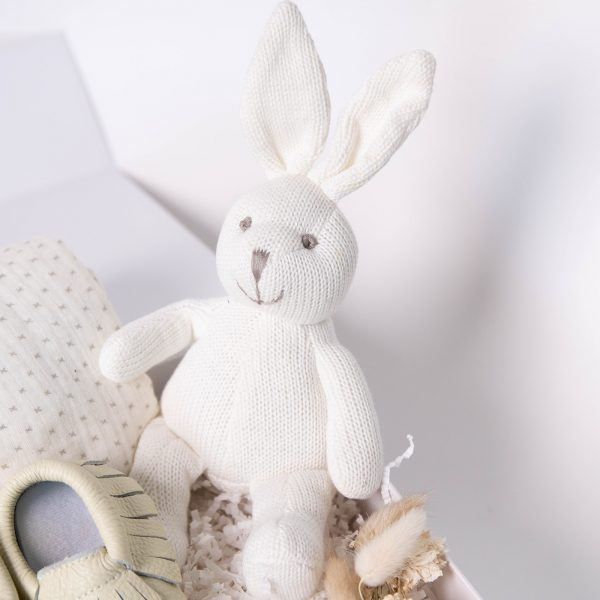 First kisses bunny rattle