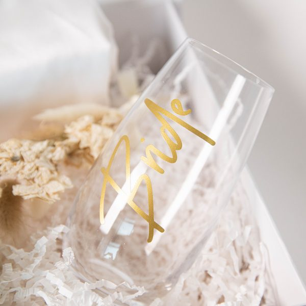 The bride stemless glass