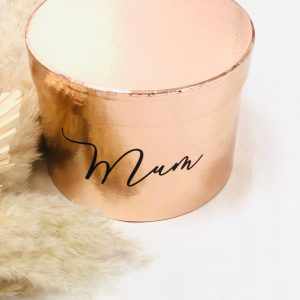 Personalised gift boxes -rose gold