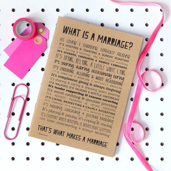 Marriage Poem notebook