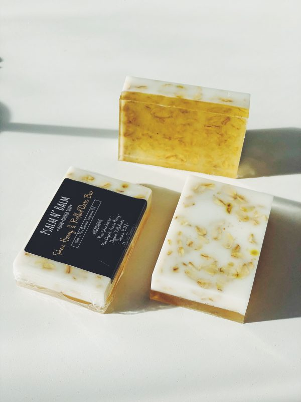 shea honey and oats soap
