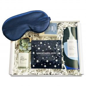 Gift box with calming items to promote good sleep