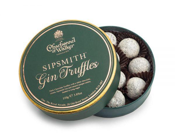 gin chocolate truffles