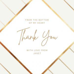 Thank you Postcard Blush